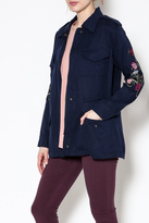BB Dakota Navy Embroidered Jacket