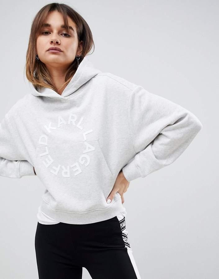 Karl Lagerfeld Paris circle logo hoodie