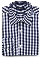 Osborne Navy Gingham Shirt With Extra-long Sleeves And Body