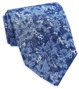 David Donahue Floral Necktie (Denim) Ties