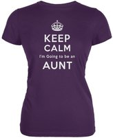 Tee's Plus Keep Calm Going to be Aunt Juniors Soft T-Shirt
