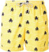 MC2 Saint Barth octopus print swim shorts - men - Nylon/Polyester/Spandex/Elastane - S