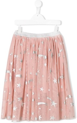 Stella McCartney TEEN flocked stars tulle skirt