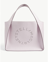 Stella McCartney Perforated logo small tote bag