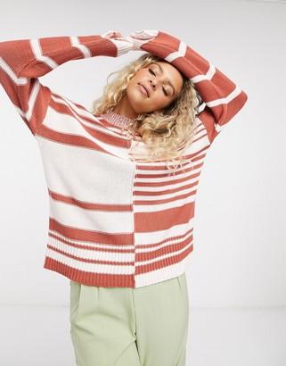NATIVE YOUTH colourblock striped jumper