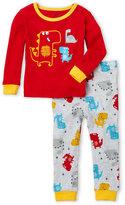 Petit Lem Infant Boys) Two-Piece Dinosaur Pajama Set
