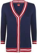 Pinko Long Sleeve Cardigan, White, XS