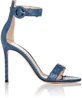 Gianvito Rossi Women's Portofino Ankle-Strap Sandals-NAVY