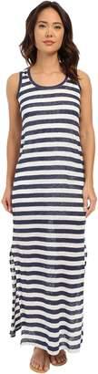 Michael Stars Women's Linen Knit Stripe Tank Maxi Dress