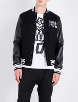 Boy London Eagle tape-print wool-blend bomber jacket