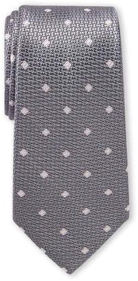 Michael Kors Grey & Pink Diamond Pattern Silk Tie