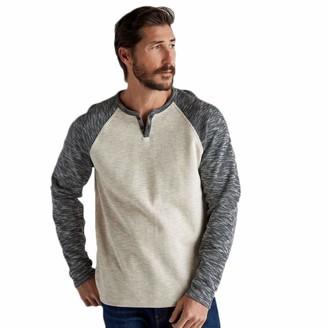 Lucky Brand Men's Long Sleeve Color Block-Button Up Notch Neck Shirt