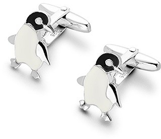 Aspinal of London Sterling Silver & Enamel Animal Cufflinks