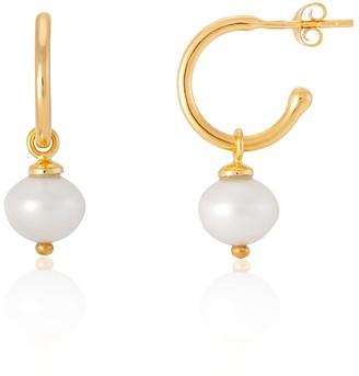 Manhattan Gold Auree Jewellery & Freshwater Pearl Interchangeable Hoop Earrings