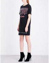 Philipp Plein Neighborhood Kings-print cotton-jersey T-shirt dress