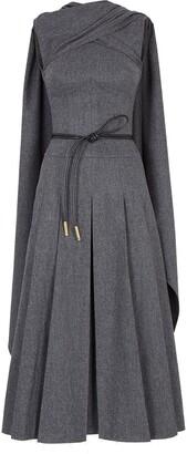 Fendi Sleeveless Flannel Dress