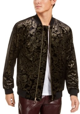INC International Concepts Inc Men's Luca Novelty Brocade Bomber Jacket, Created for Macy's