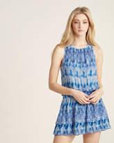 Ramy Brook Silk Jordana Chiffon Floral Lattice Dress