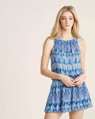 Ramy Brook Silk Jordana Chiffon Floral Lattice Dress