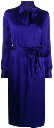 Tom Ford Tie Neck Shirt Dress