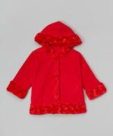 Paperdoll Red Fleece Hooded Coat - Toddler & Girls