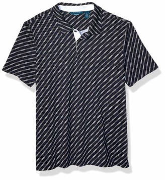 Perry Ellis Men's Pima Cotton Printed Stripe Polo Shirt