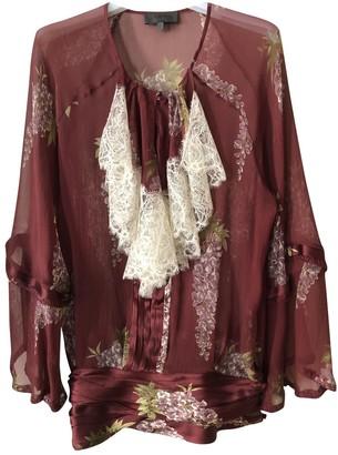 La Perla Burgundy Silk Top for Women