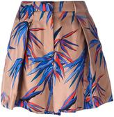 Emilio Pucci abstract print pleated shorts