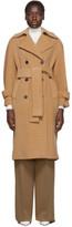 Harris Wharf London Tan Oversized Polaire Trench Coat
