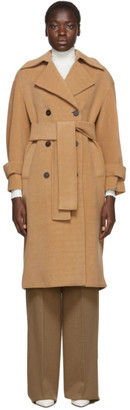 Harris Wharf London Tan Oversized Polaire Trench Coat