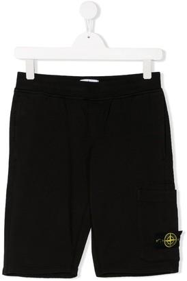 Stone Island Junior TEEN welt detail casual shorts