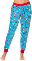 True Blue Sleep & Co Women's Sleep Bottoms TRB Candy Cane Hearts Jogger Pajama Pants - Juniors