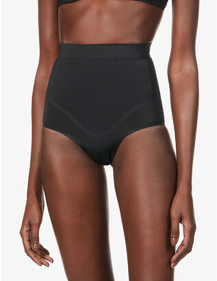 SKIMS Ladies Black Kim Kardashian West High Waist Bonded Brief, Size: XXS