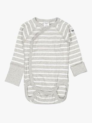 Polarn O. Pyret Baby GOTS Organic Cotton Stripe Wraparound Bodysuit