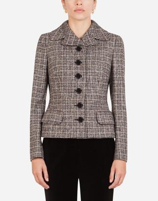 Dolce & Gabbana Short Single-Breasted Tweed Dolce Jacket
