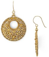 Miguel Ases Beaded Circle Drop Earrings