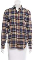 Mother Long Sleeve Plaid Top