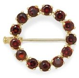 Tatitoto Gioie Women's Brooch in 18k Gold with Garnet, 4.5 Grams