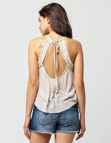 Full Tilt Lace Inset Womens Cami