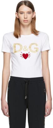 Dolce & Gabbana White Heart T-Shirt