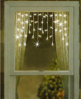 Pier 1 Imports Twinkling & Shimmering White Window Curtain Icicle Christmas Lights