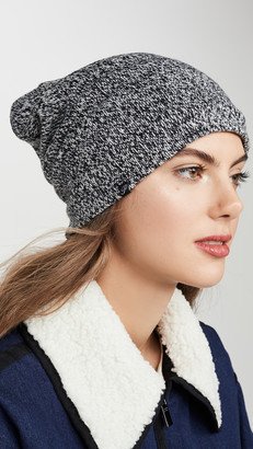 Plush Marled Slouchy Fleece Lined Beanie