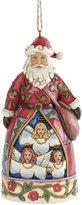 Jim Shore for Enesco Heartwood Creek Hark The Herald Santa Ornament, 4.625-Inch
