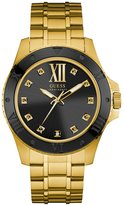 GUESS Gold-Tone and Black Classic Style Watch