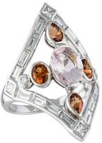 Vera Wang Platinum Diamond, Hessonite Garnet, & Morganite Ring