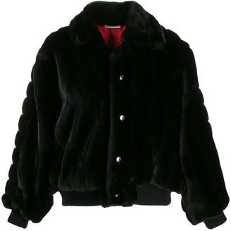 GCDS Oversized Faux Fur Jacket