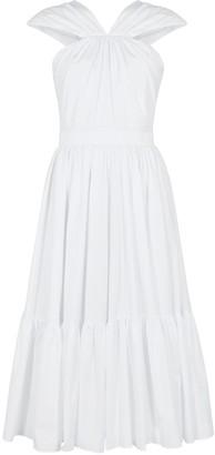Alexander McQueen White halterneck poplin midi dress