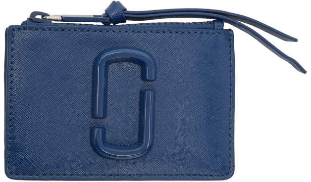 Marc Jacobs Blue Small Snapshot Top Zip Card Holder