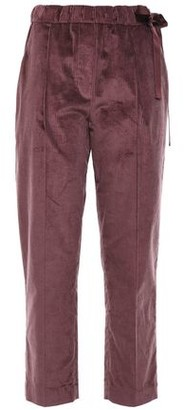 Brunello Cucinelli Cropped Cotton And Cashmere-blend Corduroy Tapered Pants