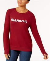 Peace Love World Thankful Graphic Sweatshirt